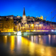 Постер, плакат: Lyon by nigt with lights