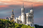 Basilica of notre dame de fourviere — Stock Photo