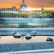 Lyon by sunset in summer — Stock Photo