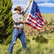 Cow boy spirit — Stock Photo
