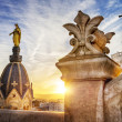 Lyon by sunset — Stock Photo