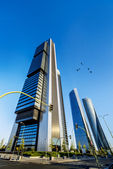 Four modern skyscrapers — Stock Photo