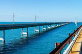 The Seven Mile bridge, Keys, Floride — Stock Photo