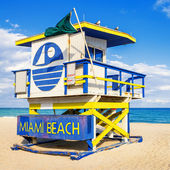 Lifeguard Tower, Miami Beach, Florida — Stock Photo