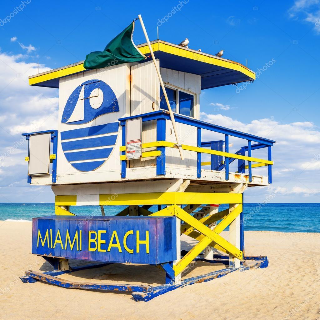 Salva vidas torre miami beach Flórida — Fotografias de Stock  #C2B309 1024 1024