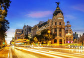 Madrid city center, Gran Vis Spain — Stock Photo