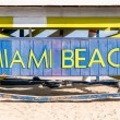 Famous sign on the beach in Miami — Stock Photo