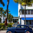 Classic American Car on South Beach, Miami. — Stock Photo #40869381