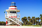 Badmeester toren, miami beach, florida — Stockfoto