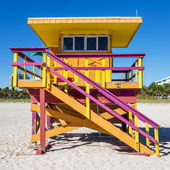 Lifeguard Tower, Miami Beach, Florida — Stockfoto