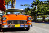 Classic American Car on South Beach, Miami.  — Stock Photo