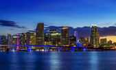 Miami city by night — Stock Photo