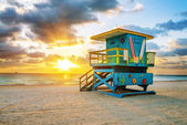 Miami South Beach sunrise — Stockfoto