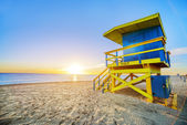Miami South Beach sunrise — Stock Photo