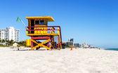 Lifeguard Tower, Miami Beach, Florida — Stockfoto