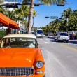 Classic American Car on South Beach, Miami. — Stock Photo #46291303