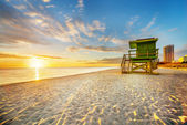 Miami South Beach sunrise — Stock fotografie
