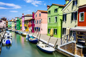 Burano village near Venise — Stock Photo
