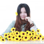 Active Chinese girl Gardening — Stock Photo #10098216