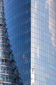 Blue skyscraper corner — Stock Photo
