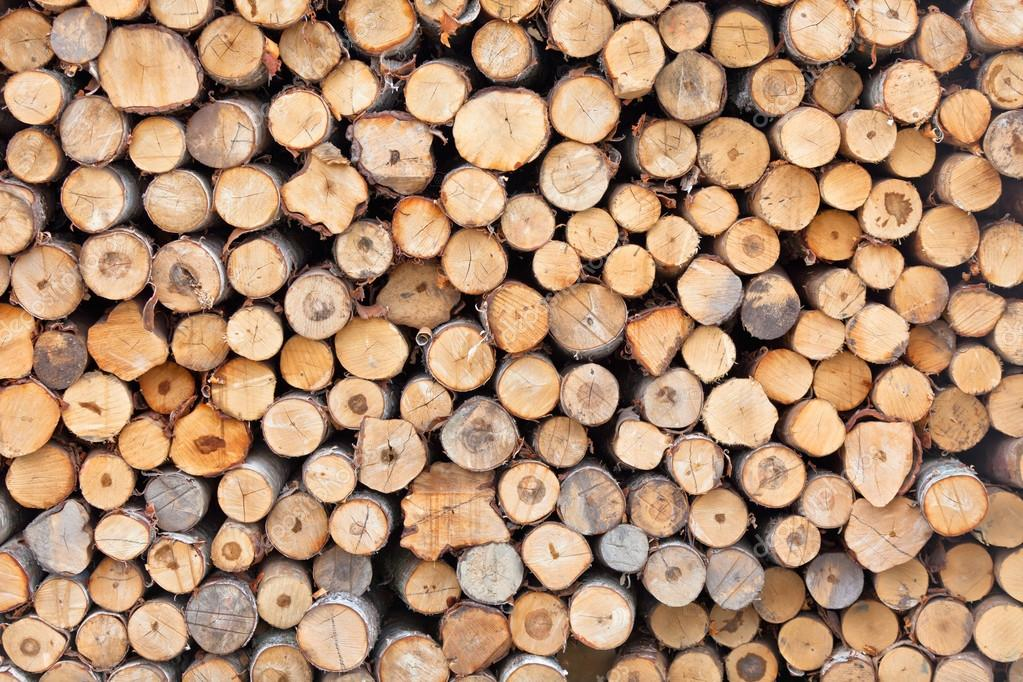 Big pile of logs as background. Horizontal shot — Stockfoto #12625317