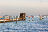 Sea pier in Venice — Foto de Stock