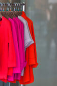 Multicolor wool cardigans — Stock Photo
