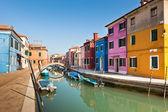 Burano coloridas casas — Foto de Stock