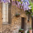 French house front porch — Stock Photo