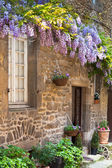 French house front porch — Stok fotoğraf