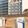 Beach wicker chairs strandkorb in Northern Germany — Stock Photo #14046711
