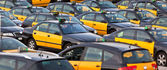 Taxi parking — Stock Photo