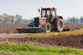Agriculture - Tractor on the field — Foto Stock