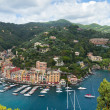 Portofino Bay View From Above - Stock Photo