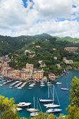 Portofino Bay View From Above — Stock Photo