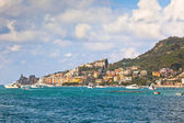 View of Town Portovenere from Sea, Italy — Stock Photo
