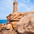 Lighthouse Men Ruz at Brittany, France — Stock Photo