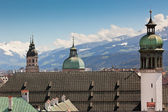 Innsbruck rooftops and spires — Stock Photo