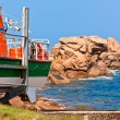 Boat at Cote de Granit Rose, France — Stock Photo #14784609