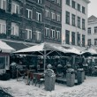 Stock Photo: Antwerp at Winter Snowstorm.