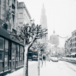 Royalty-Free Stock Photo: Antwerp at winter snowstorm.