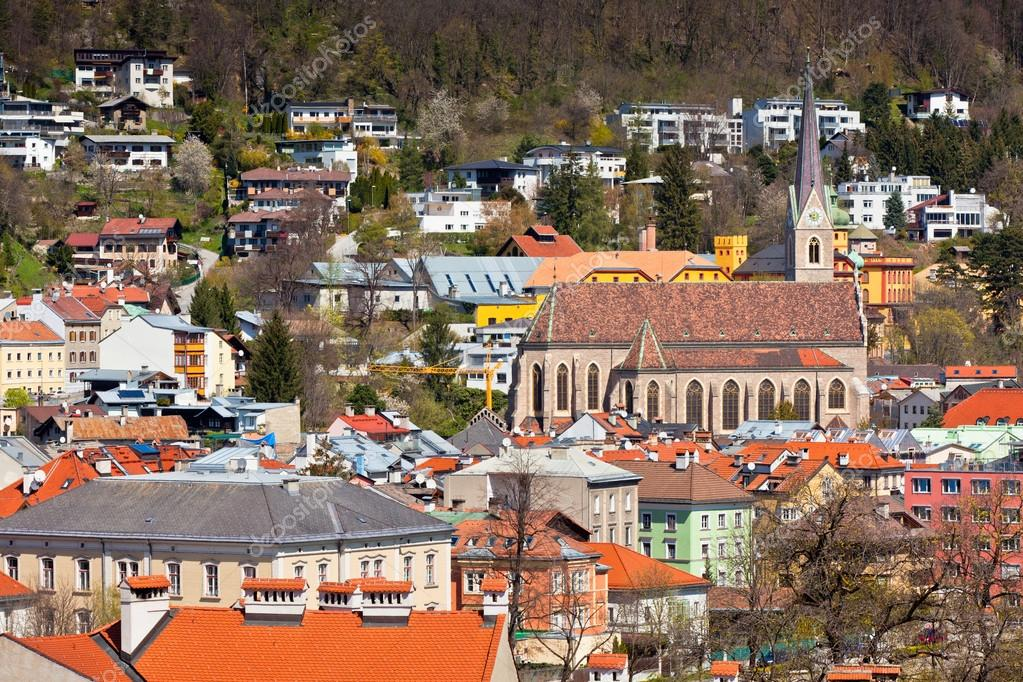 View of Innsbruck city, Tirol Alps, Austria. Horizontal shot — Stock Photo #14825785