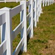 Country White Plastic Fence — Stock Photo