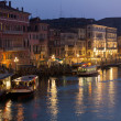 Stock Photo: Grand Canal Lights at Night, Venice.