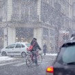 Grenoble, France at Winter Snowstorm — 图库照片