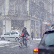Grenoble, France at Winter Snowstorm - Stock Photo