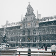 Antwerp at Winter Snowstorm — Stock Photo #15017391
