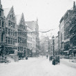 Antwerp at Winter Snowstorm — Stock Photo #15017405