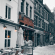 Antwerp at Winter Snowstorm — Stock Photo #15017435