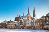 Delft Main Square at Winter — Stock Photo